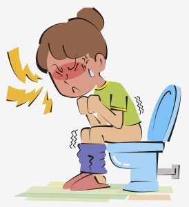 cartoon-woman-on-toilet-with-constipation