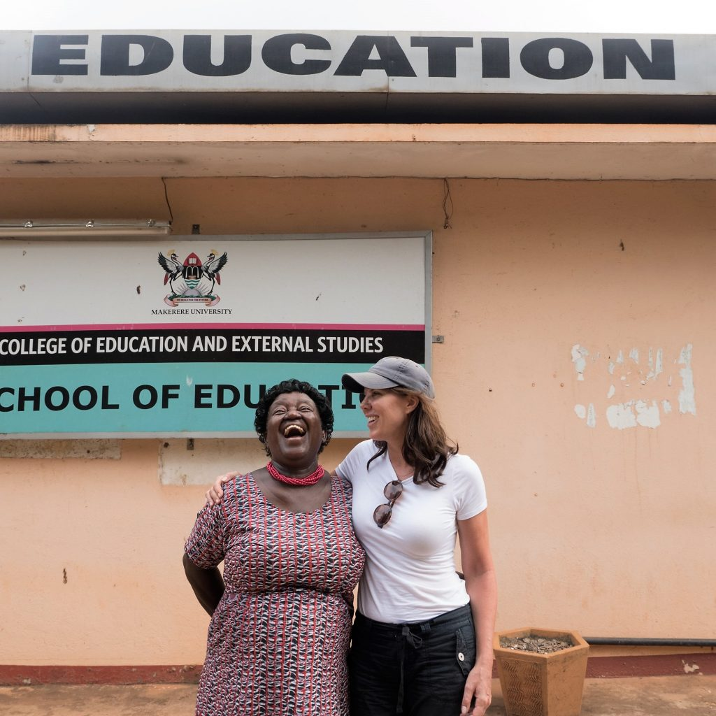 Jackie Wolfson CEO and Prof. Alica Kagoda of the Shule Foundation